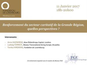 Renforcement du secteur caritatif de la Grande Région, quelles perspectives?